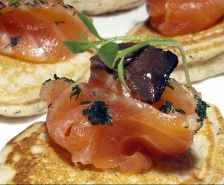 Apennino Truffle slices with marinated salmon!   DiTerra