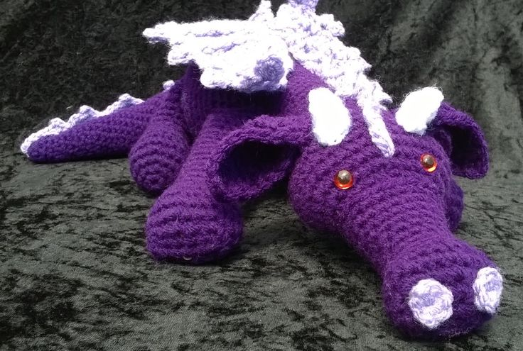 Purple Dragon by LittleBowBeads on Etsy