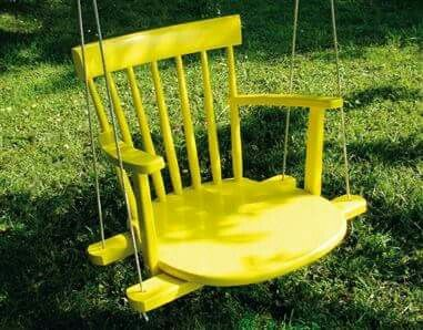 I love this swing in the back yard at the dreamhose. It will make it easy to hold my grandbaby