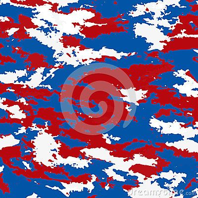 The tricolor of the Russian background. Red white and blue colors of Russia. Camouflage spots.