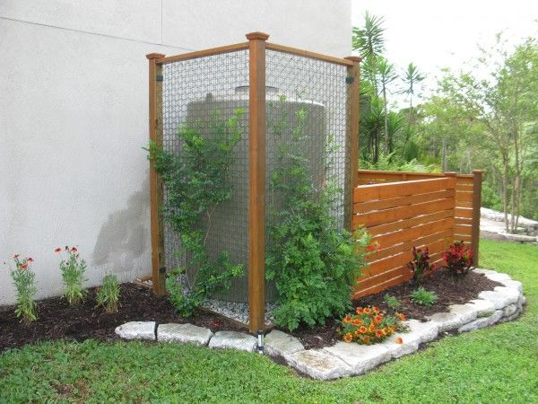 Rainwater Harvesting System behind a greenscreen
