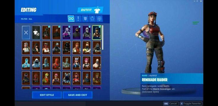 Fortnite Account OG Purple Skull Trooper Renegade Raider ...