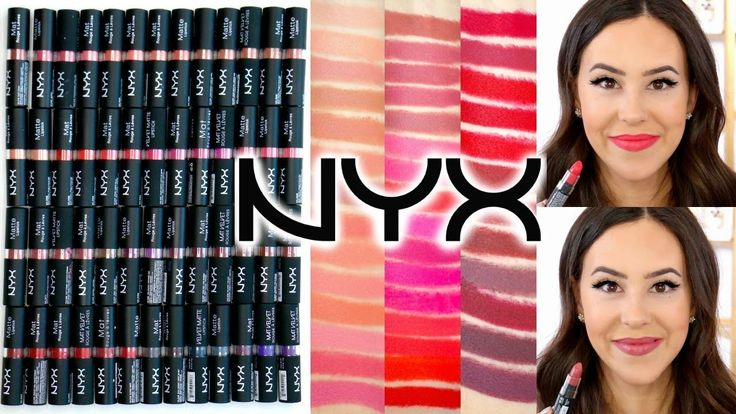NYX Matte & Velvet Matte Lipsticks || Arm & Lip Swatches of ALL SHADES