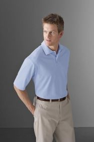 Promotional Products Ideas That Work: Men's micro pima oxford polo. Get yours at www.luscangroup.com