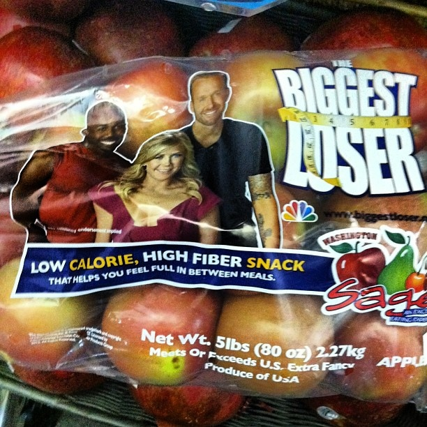 Why do we need the cast of The Biggest Loser on apples to convince people they are a healthy choice???