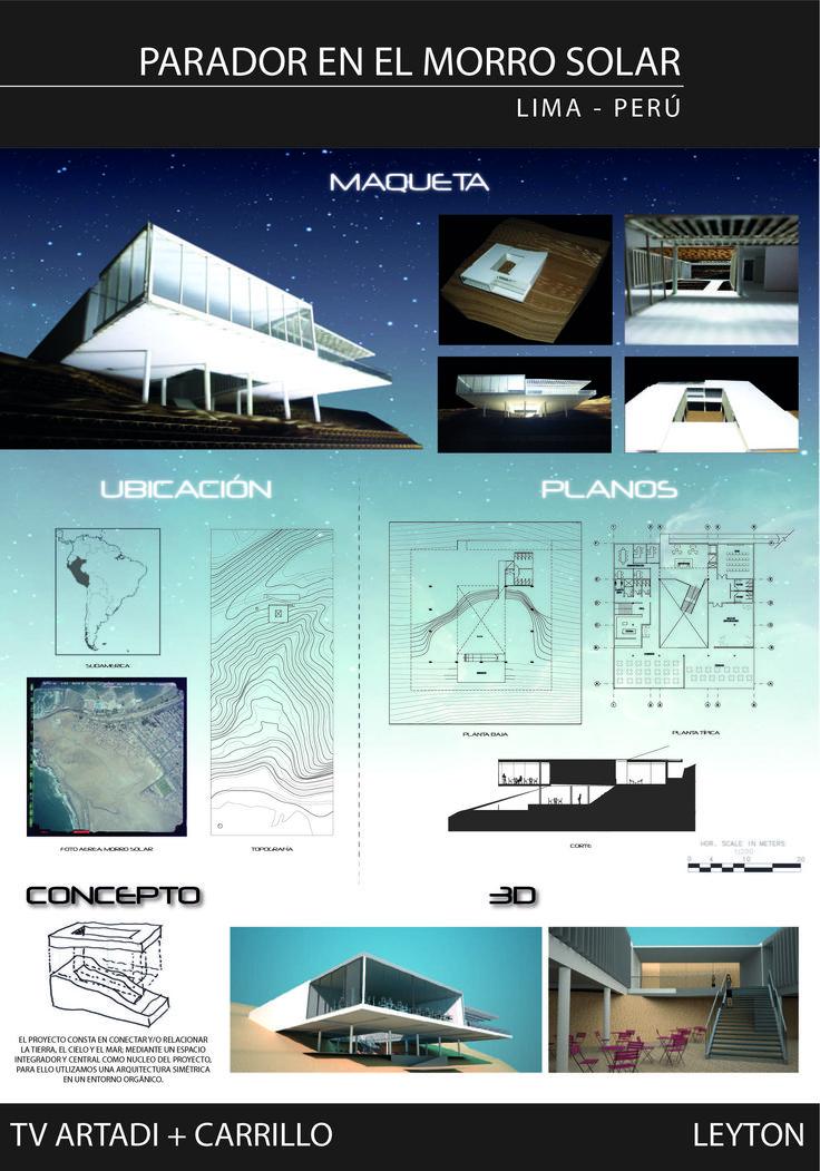 panel arquitectura morro solar lima peru