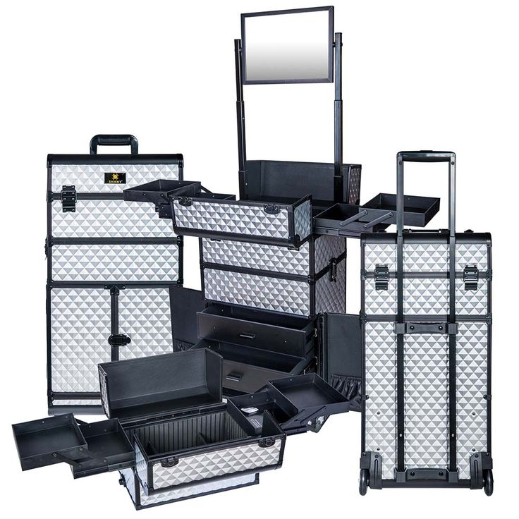 REBEL Series Pro Makeup Artists Rolling Train Case Trolley Case - Metallic Bond - ROLLING MAKEUP CASES - TRAIN CASES