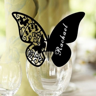 Wedding place card idea using a butterfly die