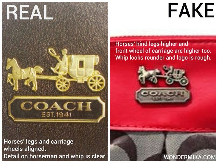 How to spot a fake COACH bag? Pictures and videos here!