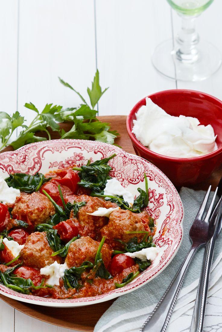 Italienska köttbullar med mozzarella | Kostdoktorn