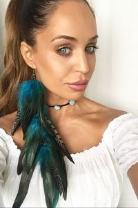 Feather Earring Blue/Black
