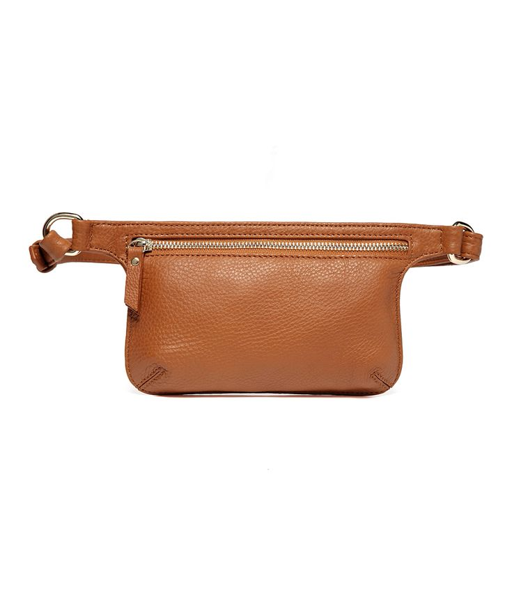 Brown Distressed Mibel Leather Waist Pack