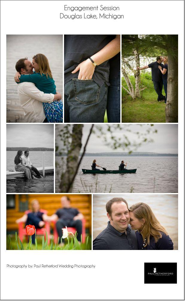 Northern Michigan Engagement Photography Douglas Lake photo