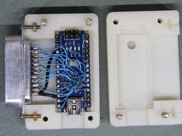 Arduino GPIB-USB Connector Shell by N2GX - Thingiverse