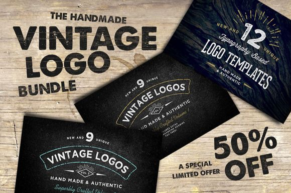 The Handmade Vintage Logo Bundle by Nicky Laatz on Creative Market