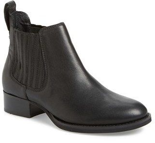 $199, Black Leather Chelsea Boots: Ariat Chelsea Boot. Sold by Nordstrom.  Click