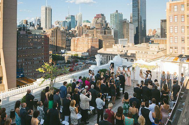 New York rooftop wedding - yes, please!