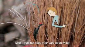 the art room plant: Nature animations featuring the work of Lotte Van Dijck (Jan-Freerk)