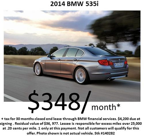 $348/month on a 2014 #BMW 535i! Offer Expires : 10/31/2014 !