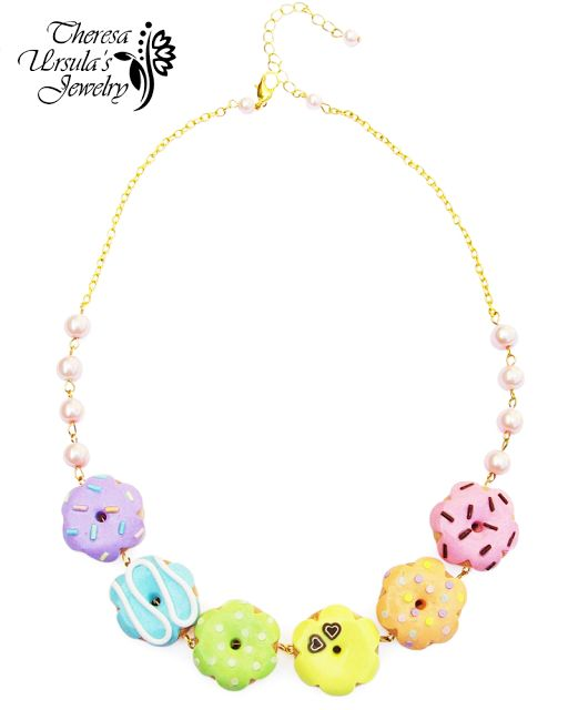 Pastel donut necklace