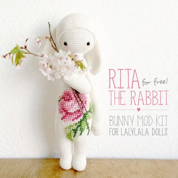 lalylala » lalylala freebies - how to turn one of the dolls into a bunny - doll pattern is not included and needs to be purchased separately