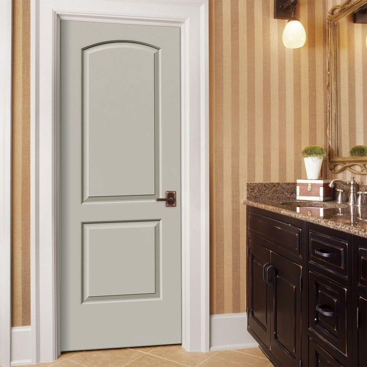 Jeld Wen 30 In X 80 In Smooth 2 Panel Arch Top Solid Core Primed Molded Composite Single