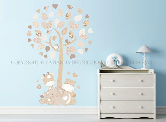 Adesivi murali bambini  Wall decals Baby Wall stickers Albero