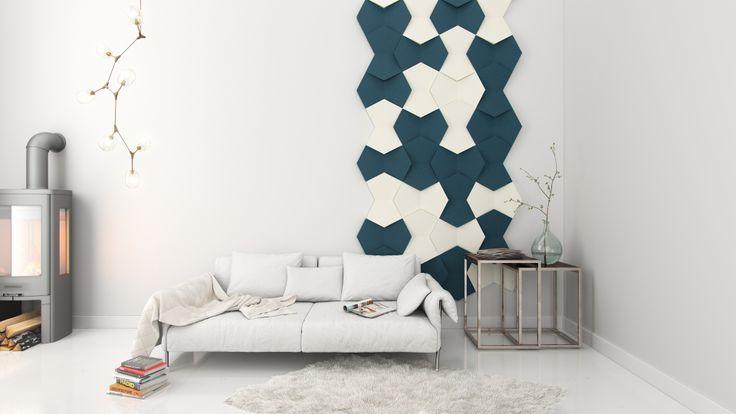 Panele ścienne Fluffo, wzór NEXUS; pomysł na ścianę, aranżacja ściany, 3D, design, salon, miękkie panele ścienne 3D Fluffo, Fabryka Miękkich Ścian