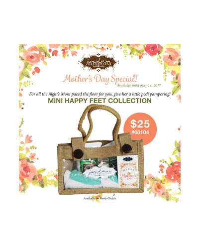 Jordan Essentials - A mini home pedicure in a gift giving ready jute tote! Exfoliate your feet with our Mini Peppermint Pumice Scrub. Add Mini Peppermint Foot Cream to soften heels and feet, and then use the Peppermint Pedistick to seal the treatment for long-lasting, soft, and moisturized skin!  Comes with a pair of Spa Socks for a full spa treatment!