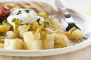 Southwestern Potato Packet recipe.  Made without chiles. Don't use too much cumin next time.
