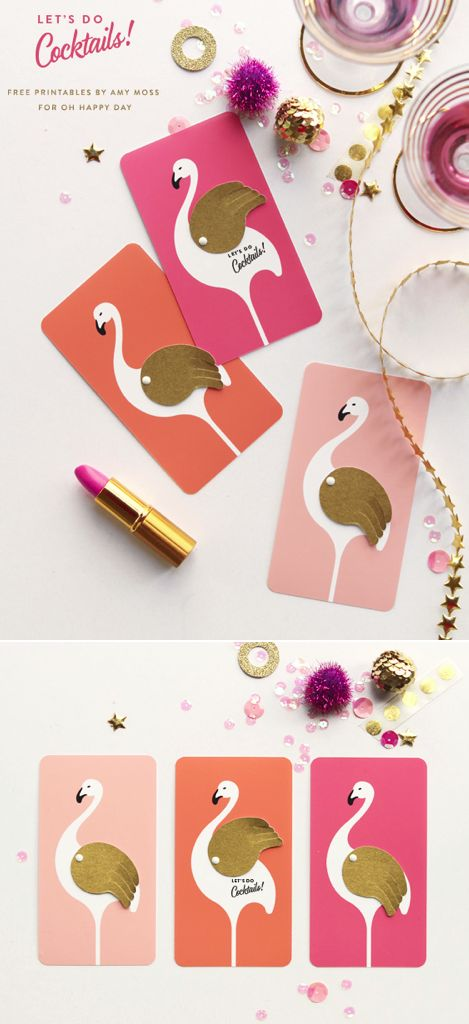 Flamingo party invites - free printable