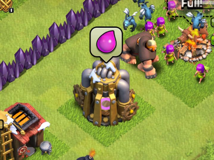 Clash of Clans Elixir Collector - Learn about your Elixir Collector, Strategy, Upgrades, Build Times, Glitch, Wall Gone? Clash of Clans Elixir Collector.