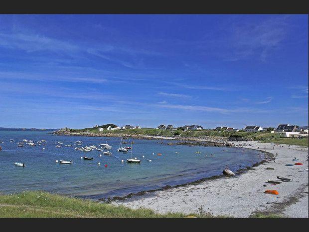 La seconde plage de Carantec (Finistère, France).
