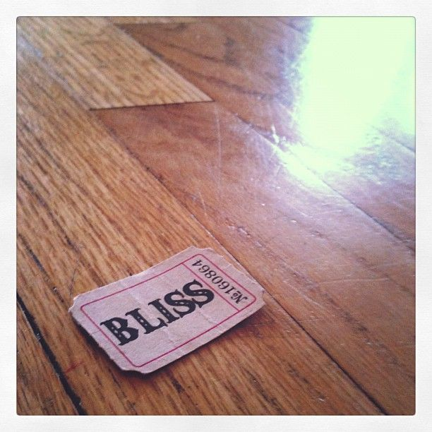 a ticket to bliss...