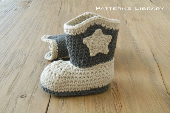 Crochet Baby Cowboy Hat And Boots Pattern Free : Cowboy Boots Pattern Crochet Cowboy Boots baby Cowboy ...