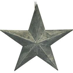 "Grey Zinc 5-Point Star 24"" - $27.49"