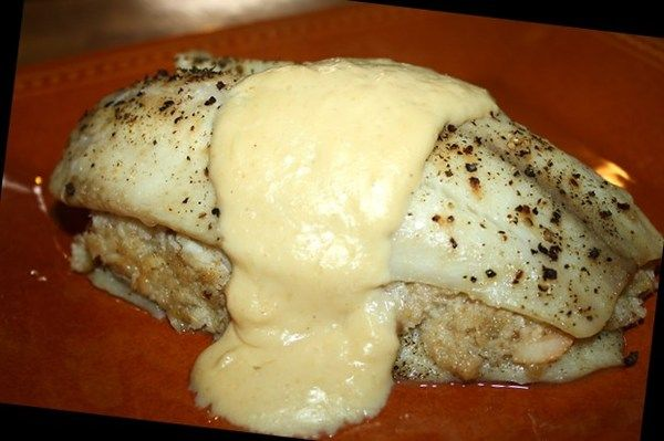 Crab Stuffed Tilapia Fillets - Made this tonight (very yummy), but I rolled it and added a small amount of cream cheese to the mix. Next time will add spinach as well.