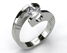 WoW ... so different ... Tension-Set Diamond Ring OMG! If I Ever ( LoL Like that is going to Happen! ) I Want this Ring!