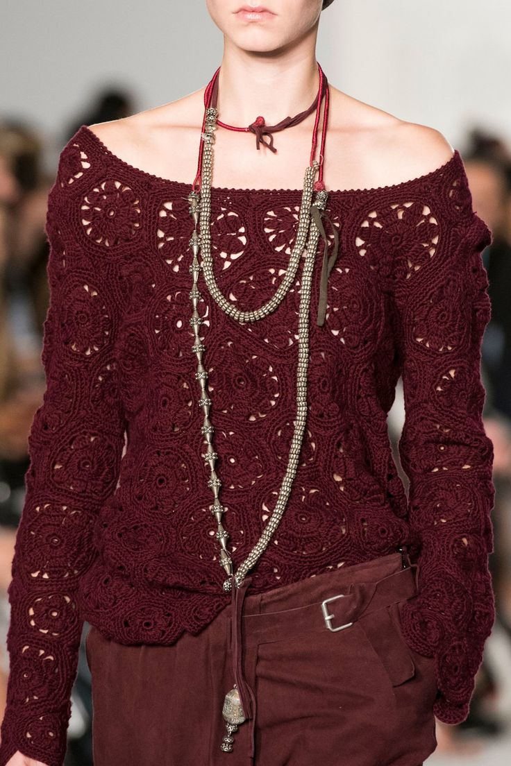 Daks at London Fashion Week Spring 2017 (Details) Crochet