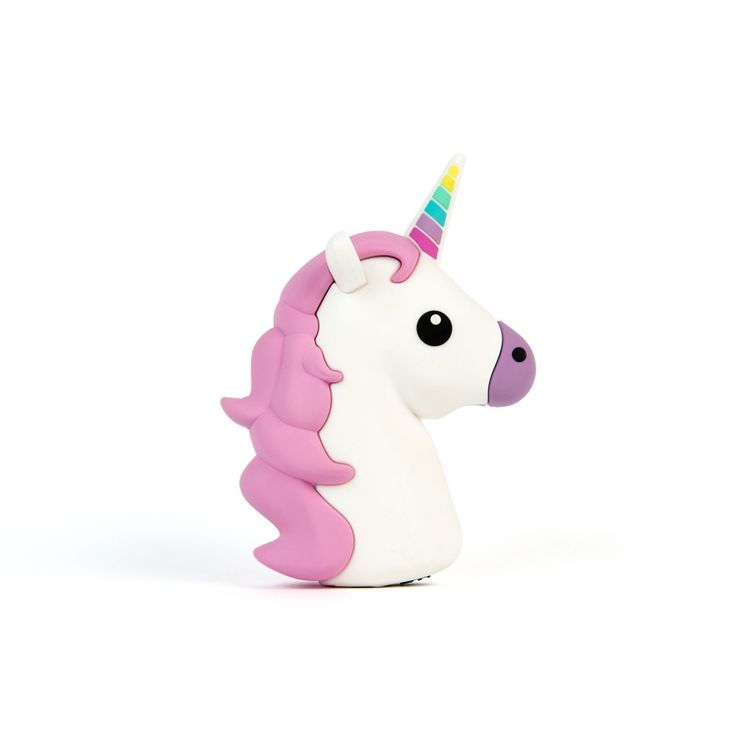 """The Unihorne Charger is not your average little pony. Keep all your devices #chargedup and on point! Dimensions: 3 5/8""""x 3 5/8"""" x 1 1/8"""" Battery Capacity: 2,600 mAh Device charges iOS & Android device"""