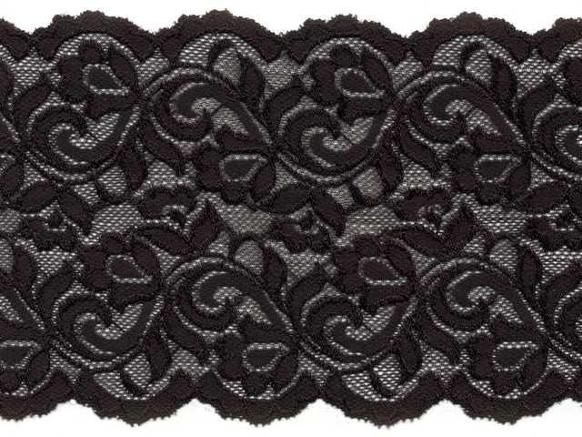 stretch kant 15 cm zwart || Eulalie Fournituren & Gadgets