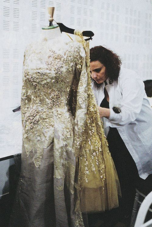 Backstage at Elie Saab Haute Couture Fall 2012.
