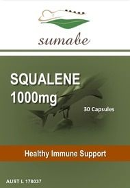 Sumabe Squalene 1,000mg, Healthy Immune Support, 30 Capsules