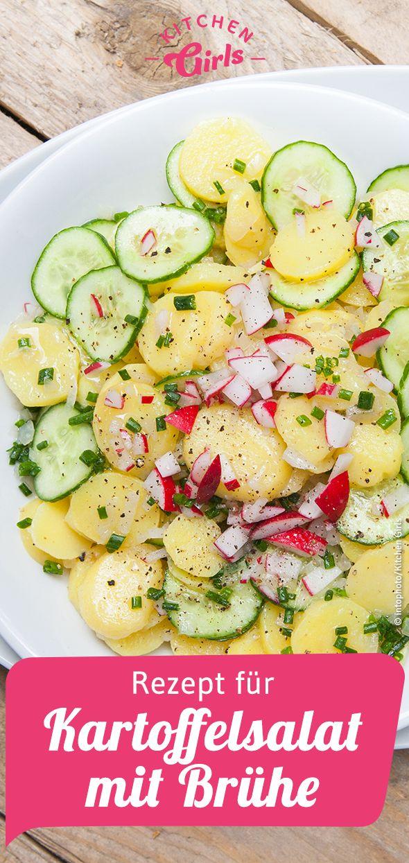 Rezept für Kartoffelsalat mit Brühe   – Salat-Rezeptideen