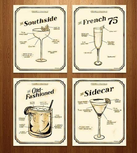 Exclusive Prohibition Era Cocktail Prints – Set of 4 | Art Prints | Sarah Watts | Scoutmob Shoppe | Product Detail