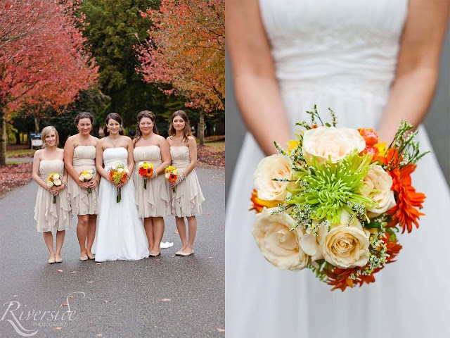 Bride and Bridemaids    Bouquet    Photography    www.riversideevents.ca