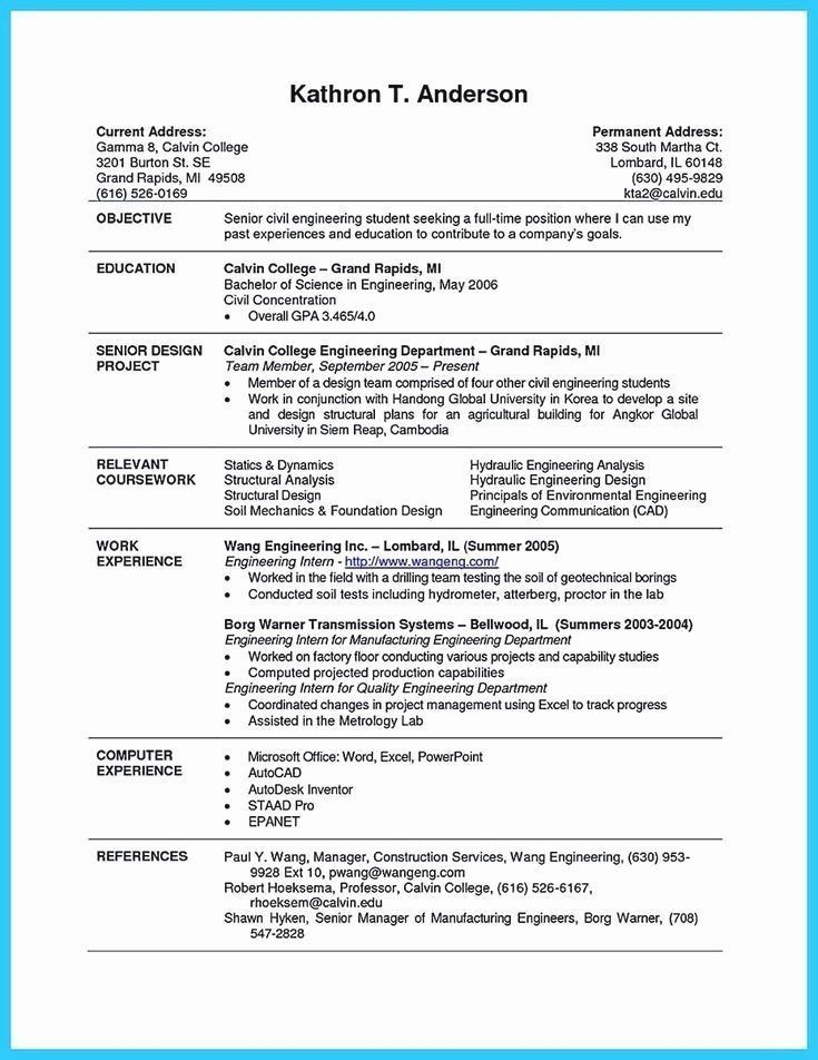 Resume Example With Headshot Photo Cover Letter 1 Page Word Resume Design Diy Cv Example College Resume Template College Resume Student Resume Template