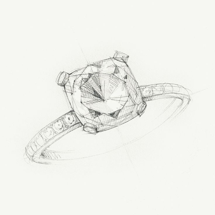 A sketch of the Tiffany Novo® diamond engagement ring. #TiffanyPinterest