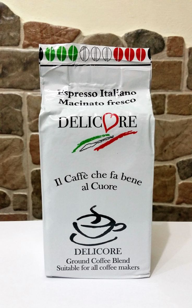 Caffè macinato 80% Robusta 20% Arabica Aroma intenso, gusto forte e corposo.