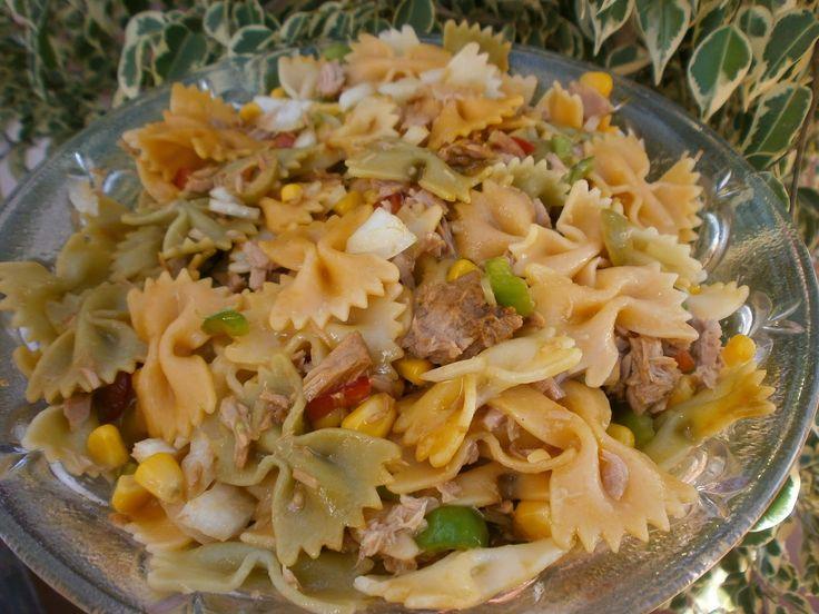 Luzmary y sus recetas caseras ensalada de pasta mis for Ideas para cocinar pasta